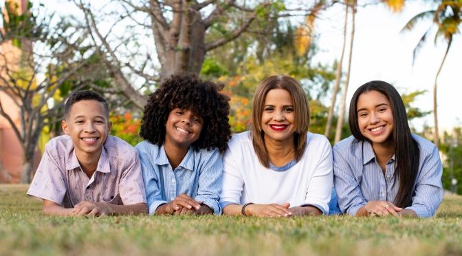 Cathy y sus hermosos hijos